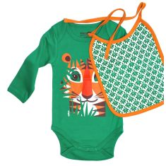 Tiger onesie and bib set