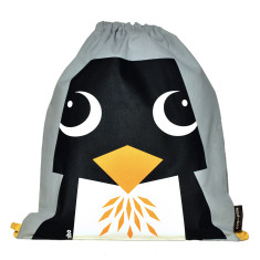 Organic cotton penguin rucksack