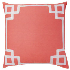 Coral Deco cushion