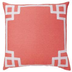 Coral Deco cushion