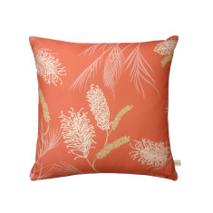 Grevillea cushion cover in coral
