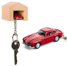 Mercedes-Benz 300 SL & beech wood garage key ring