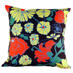 Corsage navy cushion