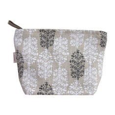 Cosmetics bag in Indian summer white & black