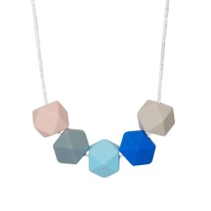 Cotton candy geo necklace