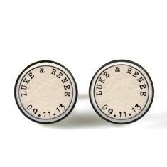 Personalised couple cufflinks