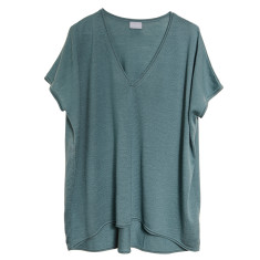 Merino wool layering top in teal