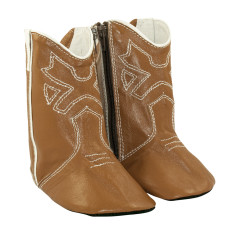 Cowboy boots in tan