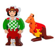 Cowgirl and kangaroo jigsaw value pack