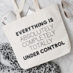 Under Control Canvas Bag