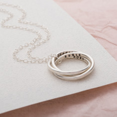 Personalised Secret Russian Ring Necklace