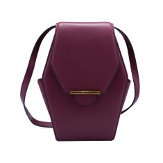 Rue diamond shoulder bag (sangria)