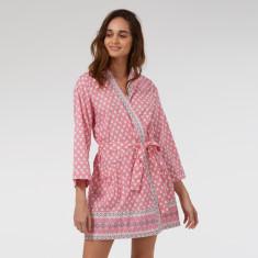 Short Kimono in Pink Solero print