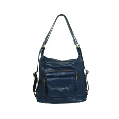 Regina full grain convertible bag in blue