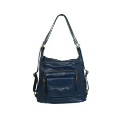 Regina full grain convertible bag in blue