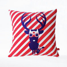 Mon papa, mon superhero organic cushion cover