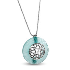 Lucilla Ancient Roman Glass Sterling Silver Pendant