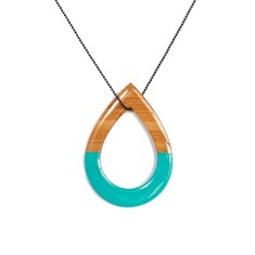 Double sided turquoise tear drop necklace