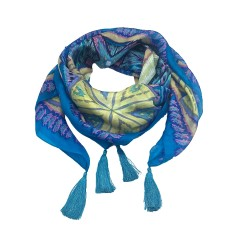 Olivia silk scarf in turquoise