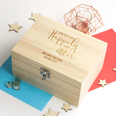 Personalised Happily Ever After Keepsake Box