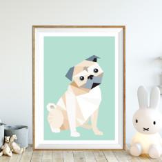 Pugsly art print (various sizes)