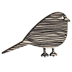 Bird brooch with black lines
