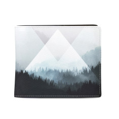 Woods Abstract Vegan Leather Men's Wallet