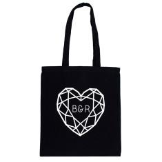 Jewelled Heart Personalised Wedding Gift Tote Bag