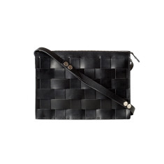 Leather Naver shoulder bag in Black