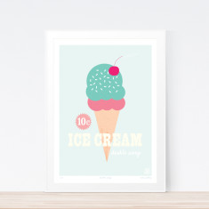 Double scoop art print