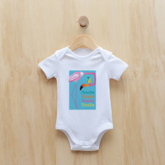 Personalised flamingo bodysuit