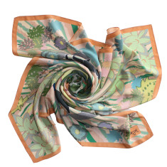 Chinoiserie scarf in panther ochre