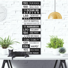 Personalised Bus Scroll Canvas