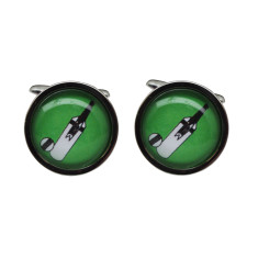 Illustrated cricket bat & ball cufflinks