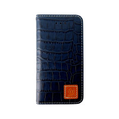 Croco leather Samsung Galaxy S5 case in Dark Brown