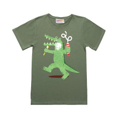 Crocopaste green t-shirt