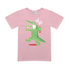 Crocopaste pink t-shirt