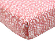Cross hatch fitted cot sheet (various colours)