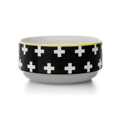 Crosses stacking bowl in black
