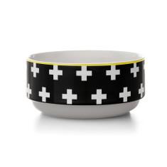Crosses stacking bowl in black
