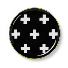 Crosses side plate in black