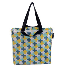 Shopper bag in crosses