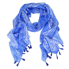 Lotto pure silk scarf with tassels (various colours)