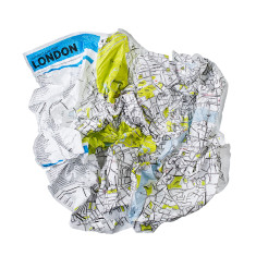 Palomar crumpled city map (various global cities)