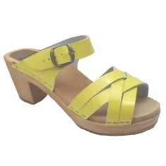Sandal Yellow Patent High