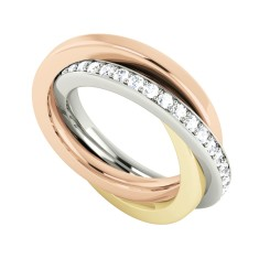Diamond 9ct gold Russian wedding ring