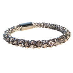 Crystal snake bracelet in silver, gold, rose gold or black by Torini