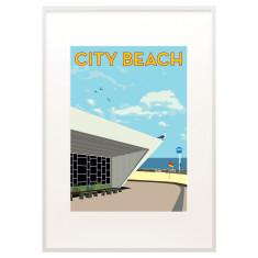 Vintage city beach print