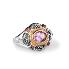 Charlotte 2ct amethyst gold vermeil & sterling silver ring