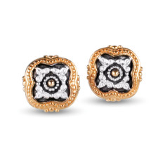 Sophia sterling silver & gold vermeil stud earrings